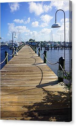 The Naples City Dock Canvas Print