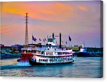 The Natchez On The Mississippi Canvas Print by Bill Cannon