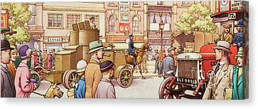 The National Strike In 1926 Canvas Print by Pat Nicolle