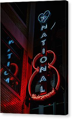 Concert Images Canvas Print - The National Underground by Stephen Stookey