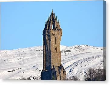 Canvas Print featuring the photograph The National Wallace Monument by RKAB Works