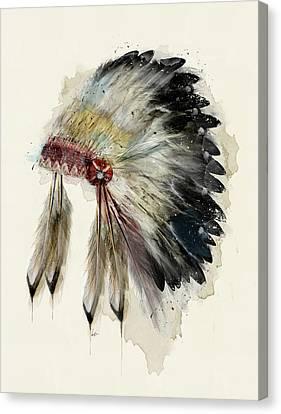 The Native Headdress Canvas Print