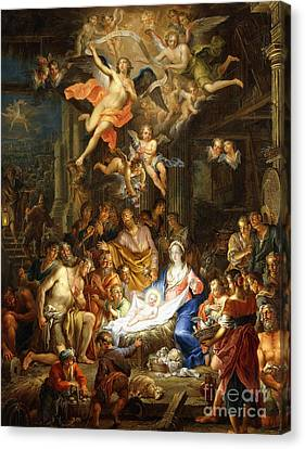 The Nativity Canvas Print by Franz Christopher Janneck