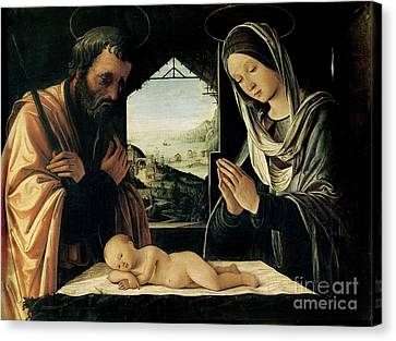 The Nativity Canvas Print by Lorenzo Costa