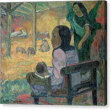 Pigs Canvas Print - The Nativity by Paul Gauguin
