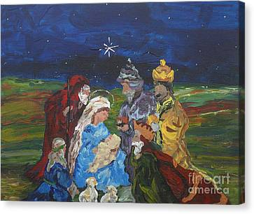 The Nativity Canvas Print by Reina Resto