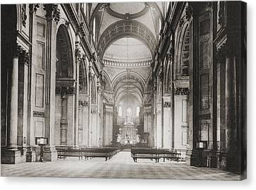 The Nave Of St. Paul S Cathedral Canvas Print
