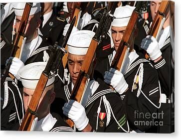 The Navy Ceremonial Honor Guard Canvas Print by Stocktrek Images