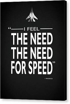 The Need For Speed Canvas Print by Mark Rogan
