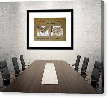 Canvas Print featuring the photograph The Negotiation Process Simplified - On Display by Gary Slawsky
