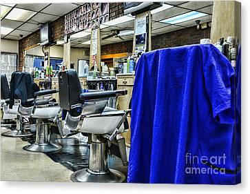 The Neighborhood Barbershop Canvas Print
