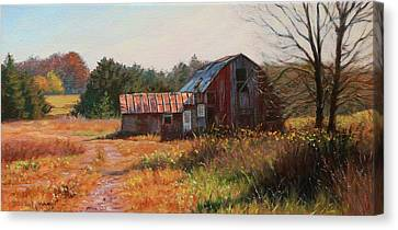 Fill Canvas Print - The Neighbor's Barn by Bonnie Mason