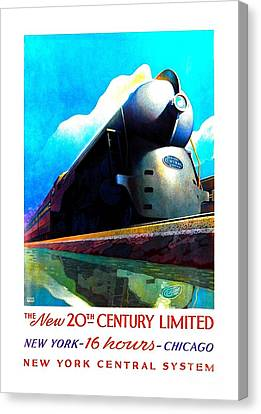 The New 20th Century Limited New York Central System 1939 Leslie Ragan Canvas Print