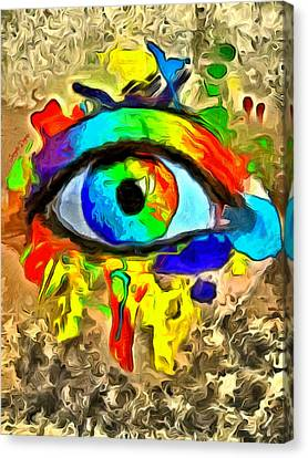 The New Eye Of Horus 2 - Pa Canvas Print by Leonardo Digenio