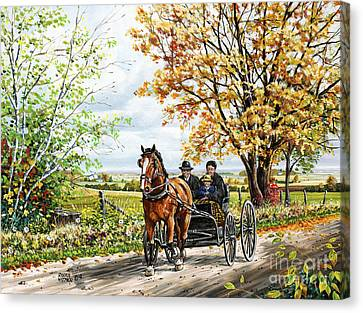 The New Horse Canvas Print by Roger Witmer