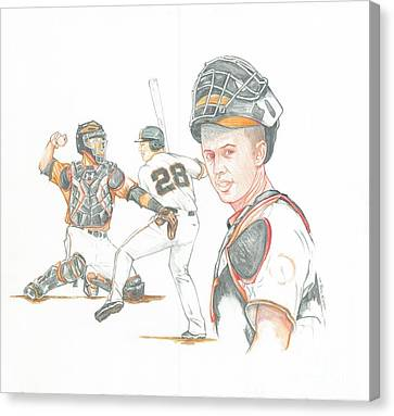 The New Natural Buster Posey Canvas Print by Phil  King