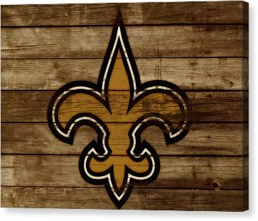 The New Orleans Saints 3a     Canvas Print by Brian Reaves