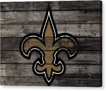 The New Orleans Saints 3b     Canvas Print by Brian Reaves