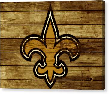 The New Orleans Saints 3c     Canvas Print by Brian Reaves