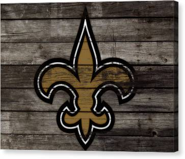The New Orleans Saints 3e     Canvas Print by Brian Reaves