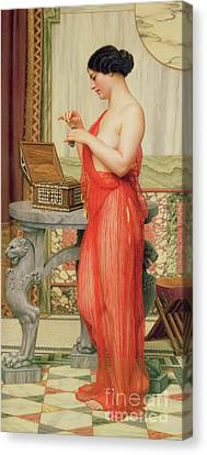 Dressing Room Canvas Print - The New Perfume, 1914 by John William Godward