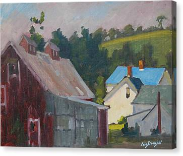 The New Roof Canvas Print by Len Stomski