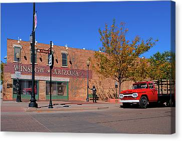 The New Standing On The Corner Park Canvas Print by Paul LeSage