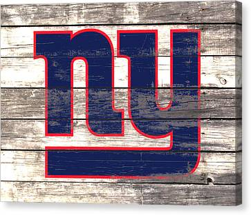 Wooden Bowl Canvas Print - The New York Giants 3i         by Brian Reaves