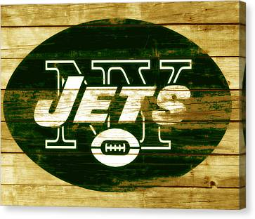 Tebow Canvas Print - The New York Jets 3a by Brian Reaves