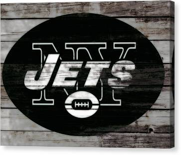 Tebow Canvas Print - The New York Jets 3c by Brian Reaves