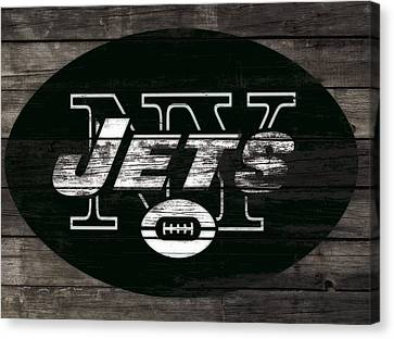 Tebow Canvas Print - The New York Jets 3h by Brian Reaves