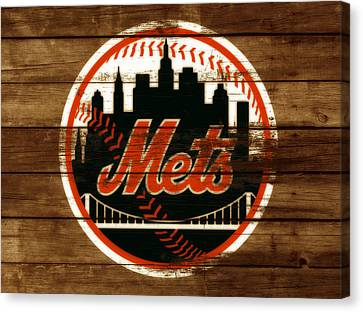 Shea Stadium Canvas Print - The New York Mets 3h by Brian Reaves