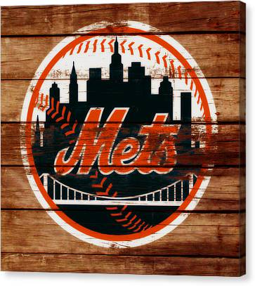 Shea Stadium Canvas Print - The New York Mets C6 by Brian Reaves