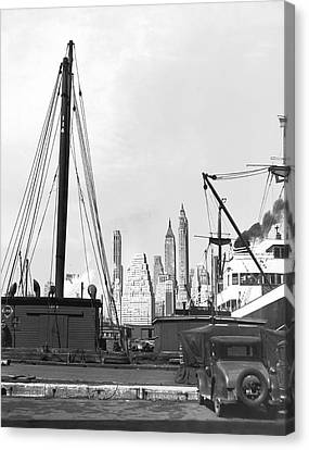 The New York Skyline Canvas Print by Underwood Archives