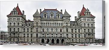 The New York State Capitol In Albany New York Canvas Print by Brendan Reals