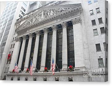 The New York Stock Exchange Canvas Print by John Telfer