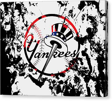 The New York Yankees 1b Canvas Print by Brian Reaves