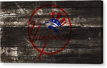 The New York Yankees 1w Canvas Print by Brian Reaves