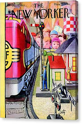 The New Yorker Cover - December 17th, 1955 Canvas Print