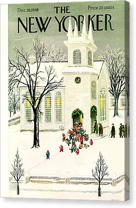 New Yorker December 18, 1948 Canvas Print