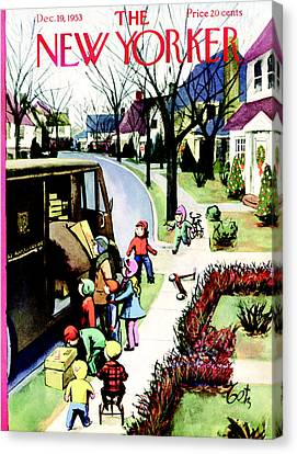 The New Yorker Cover - December 19th, 1953 Canvas Print