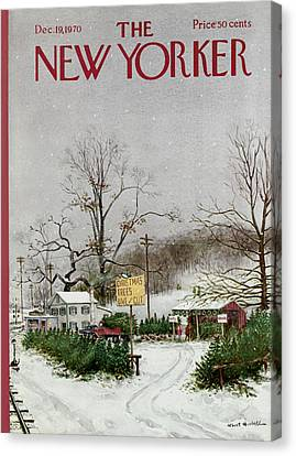 The New Yorker Cover - December 19th, 1970 Canvas Print by Conde Nast