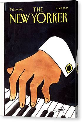 The New Yorker Cover - February 10th, 1992 Canvas Print by Donald Reilly