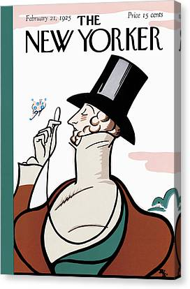 The New Yorker Cover - February 21st, 1925 Canvas Print by Rea Irvin