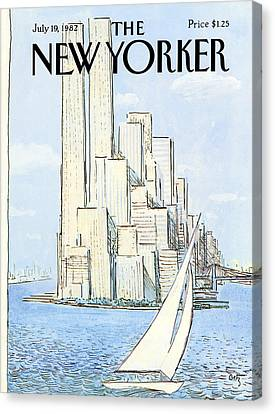 The New Yorker Cover - July 19th, 1982 Canvas Print