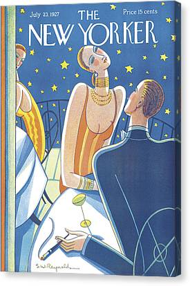Clothing Canvas Print - The New Yorker Cover - July 23rd, 1927 by Stanley W Reynolds