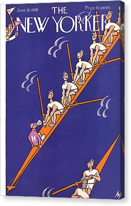 Oar Canvas Print - The New Yorker Cover - June 26th, 1926 by Julian de Miskey