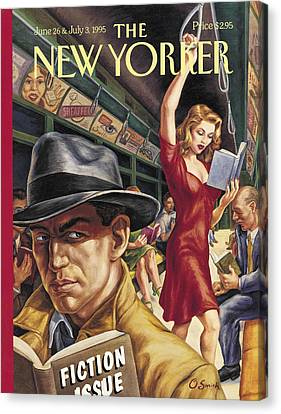 The New Yorker Cover - June 26th, 1995 Canvas Print by Conde Nast
