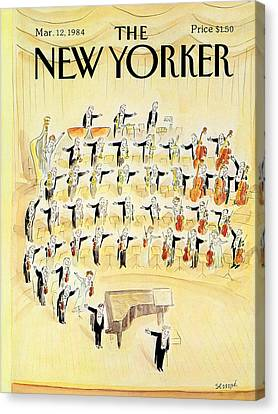 The New Yorker Cover - March 12th, 1984 Canvas Print by Jean-Jacques Sempe