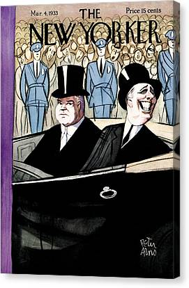 Politics Canvas Print - The New Yorker Cover - March 4th, 1933 by Peter Arno